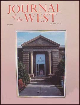 Journal of the West July 1991 the Public Library in the American West