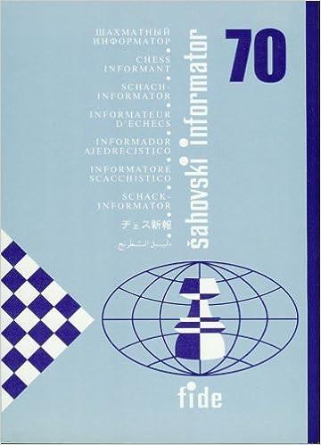 Chess Informant 70 Aleksandar Matanovic Et Al 9788672970364
