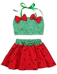 7f144c3628d87 Clothing Set - Top and Skirt Watermelon Swimsuit - Beachwear Sleeveless -  for Baby Infant Girl