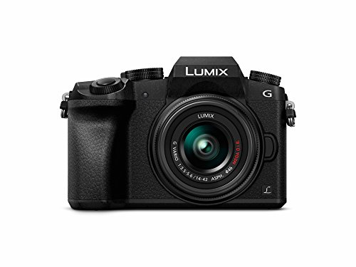 PANASONIC-LUMIX-G7-4K-Mirrorless-Camera-with-14-42mm-MEGA-OIS-Lens-16-Megapixels-3-Inch-Touch-LCD-DMC-G7KK-USA-BLACK