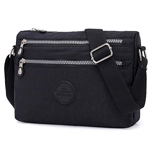 Crossbody with for Small Black Shoulder STUOYE Multi Pockets Women Bag Hobo Bags BqndS