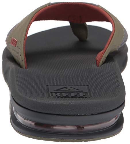 Reef Men's Fanning Sandal, Olive/Rust, 150 M US by Reef (Image #2)