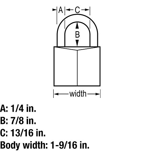 Master Lock 140T Solid Brass Keyed Alike Padlock with 1-9//16-inch Wide Body and