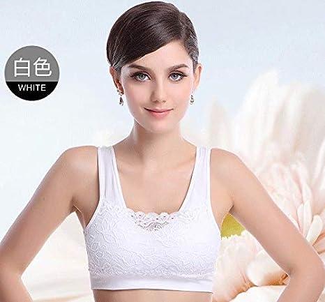 WXNLEAI Sujetador de yoga con sujetador y sujetador de yoga para mujer sin sujetador de encaje de acero, blanco, talla única: Amazon.es: Salud y cuidado ...