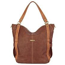 timi & leslie Marcelle 7-Piece Diaper Bag Set, Copper/Saddle