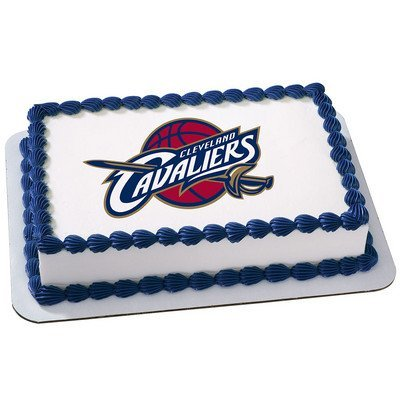 Cleveland Cavaliers Licensed Edible Cake Topper (Nba Cake)