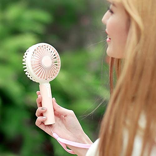 Color : Pink Mini DC 5V USB//Rechargeable//3 Speeds//Cooling Handheld Fan,for Air Cooler Portable Electric Fan