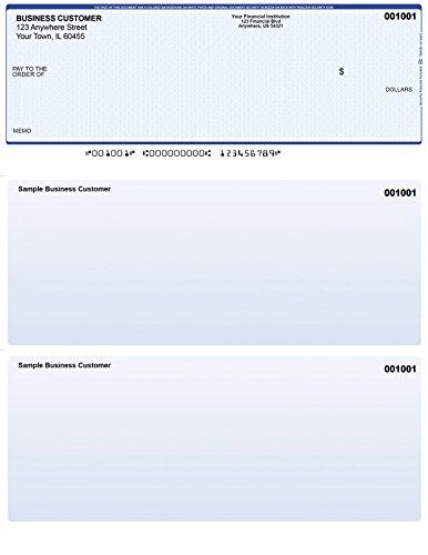 Blue Safety Computer Checks - 500 Printed Laser Computer Voucher Checks - Compatible for Quickbooks