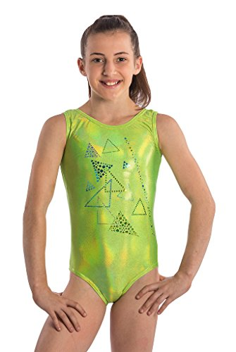 Lizatards Gymnastics Leotard Lime Delight Girls M (7-8)