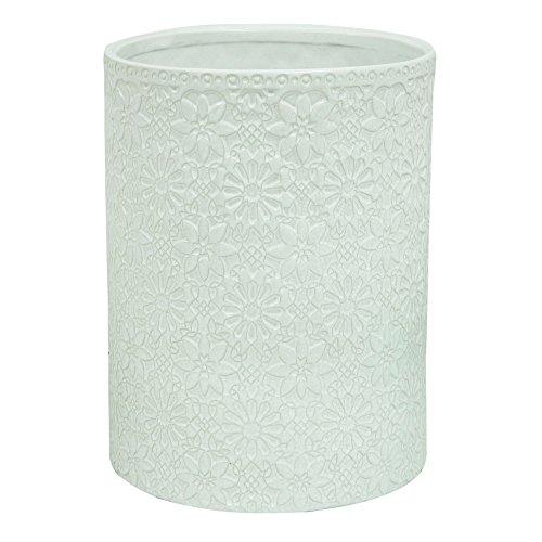 White Floral Basket - 8