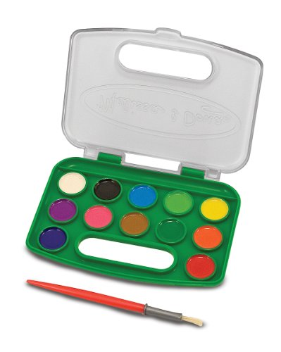 Color Set Washable Paint (Melissa & Doug Take-Along Watercolor Paint Set - 5 Washable Paints)