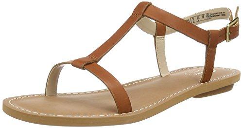 Clarks Voyage Hop, Sandalias de Punta Descubierta Mujer Marrón (Tan Leather)