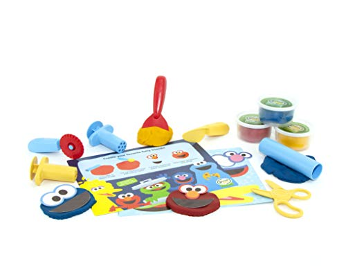 (Green Toys SSDTM-1323 Sesame Street Elmo & Friends Dough Activity Set, Multi )