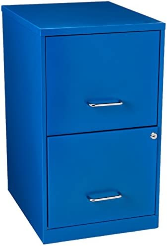 Hirsh SOHO 2 Drawer File Cabinet in Blue