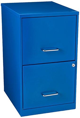 Hirsh SOHO 2 Drawer File Cabinet in Blue