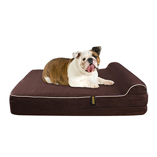 Large 5.5'' Orthopedic Memory Foam Dog Bed With 2.5'' Pillow