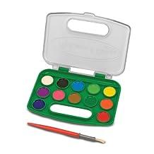 Melissa & Doug Take-Along Watercolor Paint Set - 5 Washable Paints