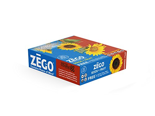 Fruit Energy Bars Box - ZEGO Snacks Seed+Fruit Bars: Apple Cinnamon 9 (38g) bars/box Delicious Organic Vegan Gluten Free Snack Great for On-The-Go, Athletes, Adults, Kids, Easy to Digest