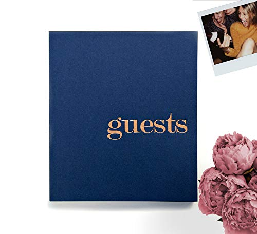 Photo Guest Book Navy Guestbook For Wedding Guest Book Polaroid Guest Book Photo Guestbook Wedding Photo Booth Props Instax Guest Book Navy Wedding Guestbook With Blank Pages. Navy & Gold Wedding (LP) -