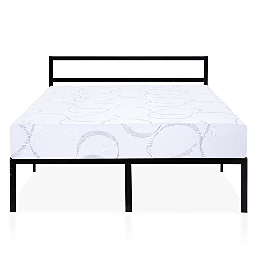 Olee Sleep Q14BX02MOLVC Bed Frame, Queen, Black