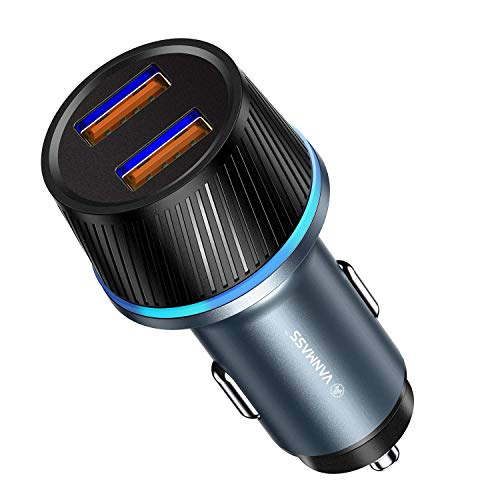 - VANMASS 36W Dual USB Car Charger, 3A Quick Charge 3.0 Car Charger, QC 3.0 Fast Car Cell Phone Charger with LED, Compatible with iPhone Xs XR X 8 7 Plus, iPad, Galaxy S9 S8 S7 S6 Edge, LG, HTC, Tablet