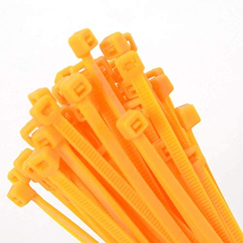 """138A-ナイロンケーブルタイ、プラスチックワイヤータイ、6""""L、40 lb、オレンジ、500の部分"""