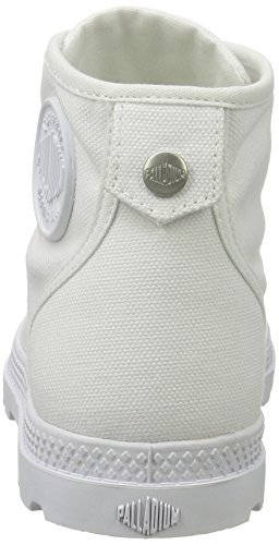 Blanc white dull Femme Mid Lp white Basses Palladium Silver Sneakers Pallabrouse cfq0zYWwA