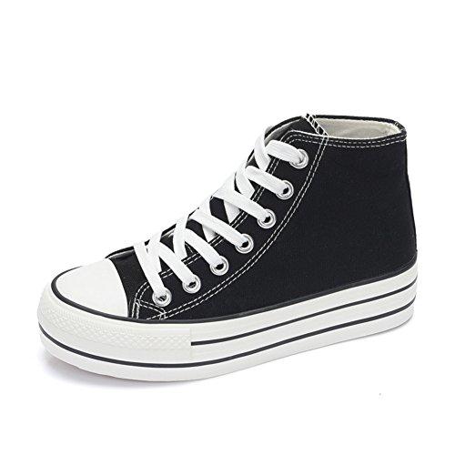 Ayuda alta zapatos de lona en verano y el otoño/Zapatos de plataforma con suela gruesa/ el clásico plano lienzo A