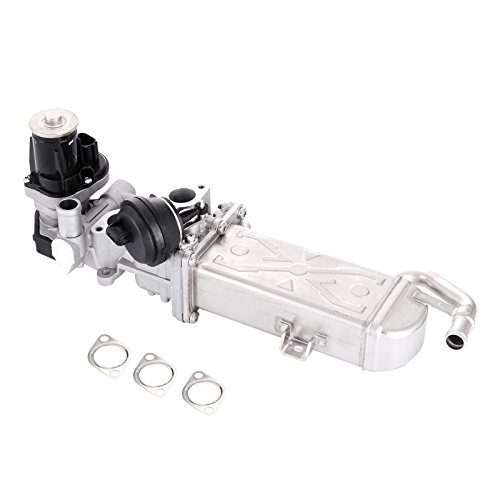 Mophorn EGR Valves Aluminum Alloy EGR Cooler Exhaust Gas Recirculation Valve for AUDI VW GOLF VI 1.6TDI 2.0TDI 2008 Fitting for 03L131512AP (EGR Valve for (Egr Fitting)