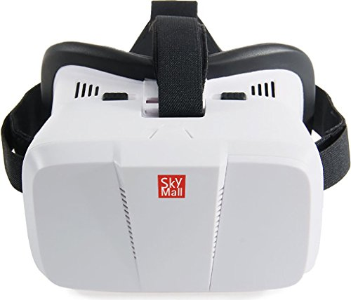 SkyMall Virtual Reality 3D Glasses Headset - For 3D & 360° Movies, Videos & Video Games, Compatible with iPhone (6s/6 plus/6/5s/5c/5)& Android (s5/s6/s7note4/note5) VR Apps & More