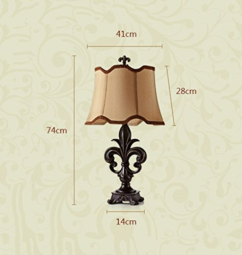 MILUCE Retro European Luxury Table Lamp Bedroom Bedside Table Lamp Classical by MILUCE (Image #2)