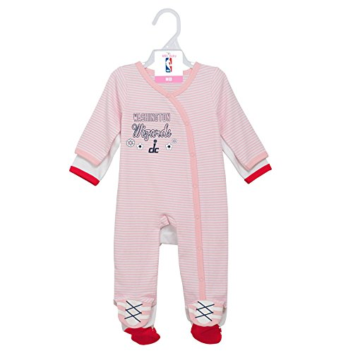 (Outerstuff NBA Washington Wizards Newborn 2nd Half 2 Piece Coverall Set, 0-3 Months, Light Pink)