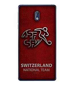 ColorKing Football Switzerland 09 Red shell case cover for Nokia 3