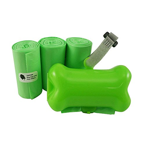 - Gorilla Supply 60 Green Pet Poop Bags with Green Dispenser, EPI Technology, 3 Rolls