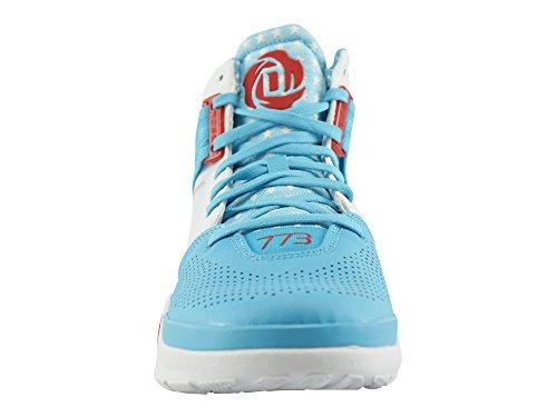 adidas D Rose 773 IV - Zapatillas para hombre Blanco / Azul / Rojo