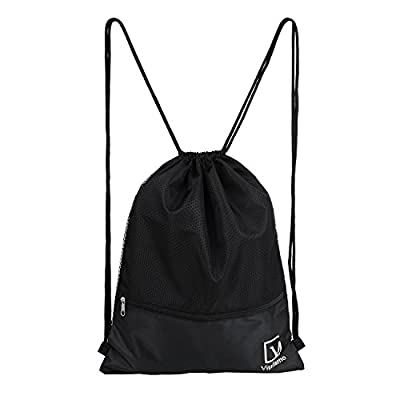 Chnano Sackpack Waterproof Gymsack Drawstring Gym Bag with Pockets for Outdoor Storage