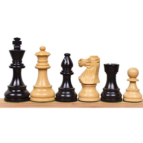 RoyalChessMall- Reproduced French Lardy Staunton Chess Pieces Set - Weighted Wood - 4 Queens