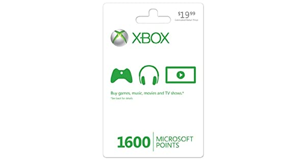 amazon com xbox live 1600 microsoft points xbox 360 digital code