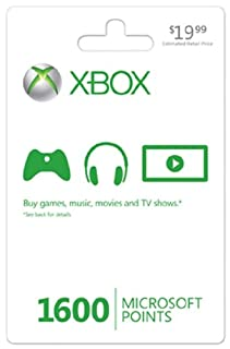 Xbox LIVE 1600 Microsoft Points - Xbox 360 Digital Code (B001V7QIDO) | Amazon price tracker / tracking, Amazon price history charts, Amazon price watches, Amazon price drop alerts