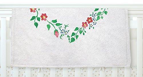 KESS InHouse Louise Heart Green Pink Fleece Baby Blanket 40 x 30 [並行輸入品]   B077YZWQZB