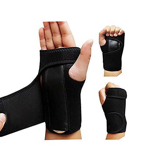 - Feisuo 1 Pair Night Wrist Sleep Support Brace - Fits Both Hands - Cushioned to Help With Carpal Tunnel and Relieve and Treat Wrist Pain - Adjustable