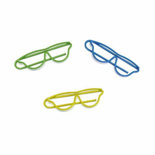 (Price/100 Clips) Officeship Glasses Shaped Paper Clips, 1 4/5