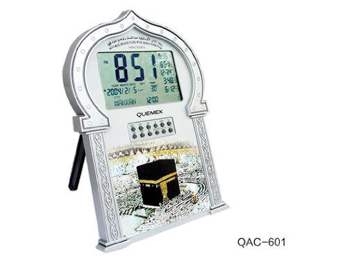Auto-Islamic-Azan-Clock-with-Qibla-Direction-QAC601-Silver-Color