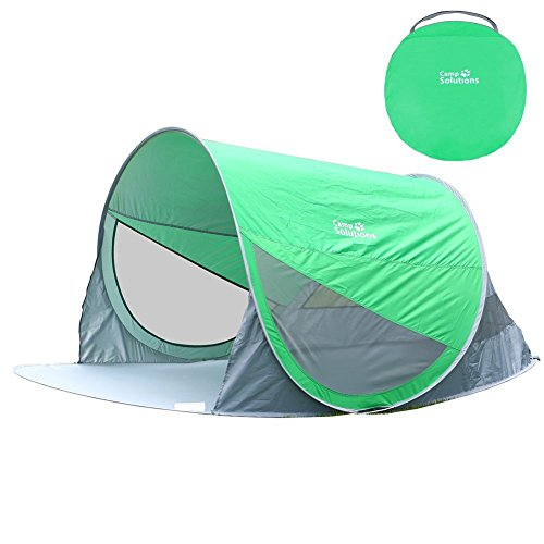 Camp Solutions Lightweight Portable Pop-Up Tent with Carry Bag (2 Person), Green
