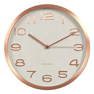Karlsson Maxie - Reloj de Pared, Metal, Cobre 2