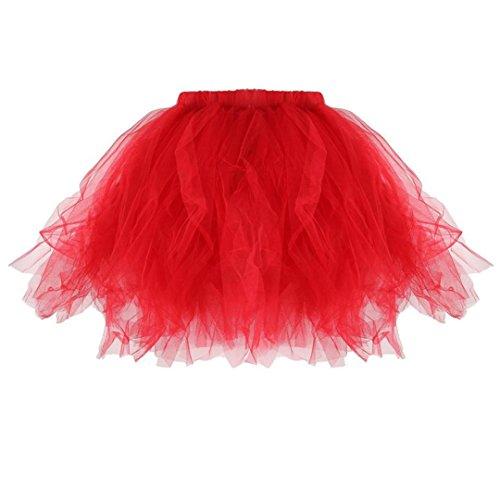 Tutu Qualit OVERMAL Adultes Jupe Mini Desmond Tutu De Jupe PlissE Jupe Haute Dentelle Rouge De Mini Tutu Jupe des Tulle Dentelle Ballet PlissE Femmes Jupes rqn6g0Prw