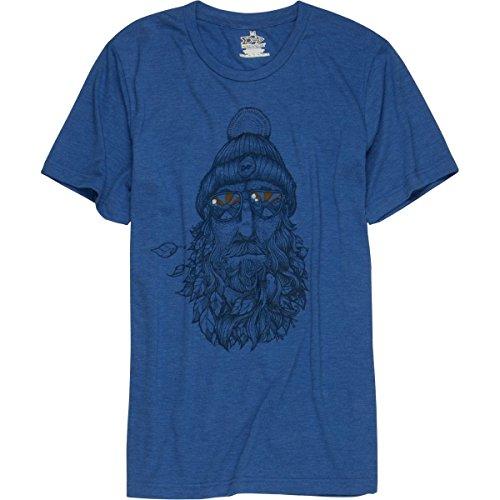 Meridian Line Captain Bird Beard T-Shirt - Men's True Royal Triblend, ()