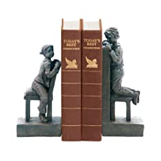 Sterling Home Pair of Peek A Boo Bookends, 9-1/2-Inch Tall