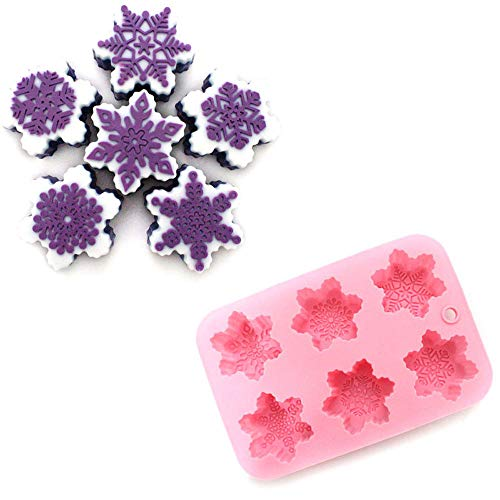 Christmas Snow Flake Shaped 6 Cavities Baking Mold Cake Decorating Cookie Mold