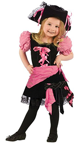 (Fun World Punk Pirate Toddler Costume, Large 3T-4T, Multicolor)